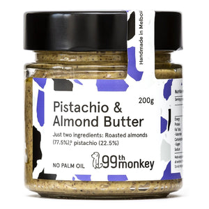 99th Monkey Pistachio and Almond Butter 200g