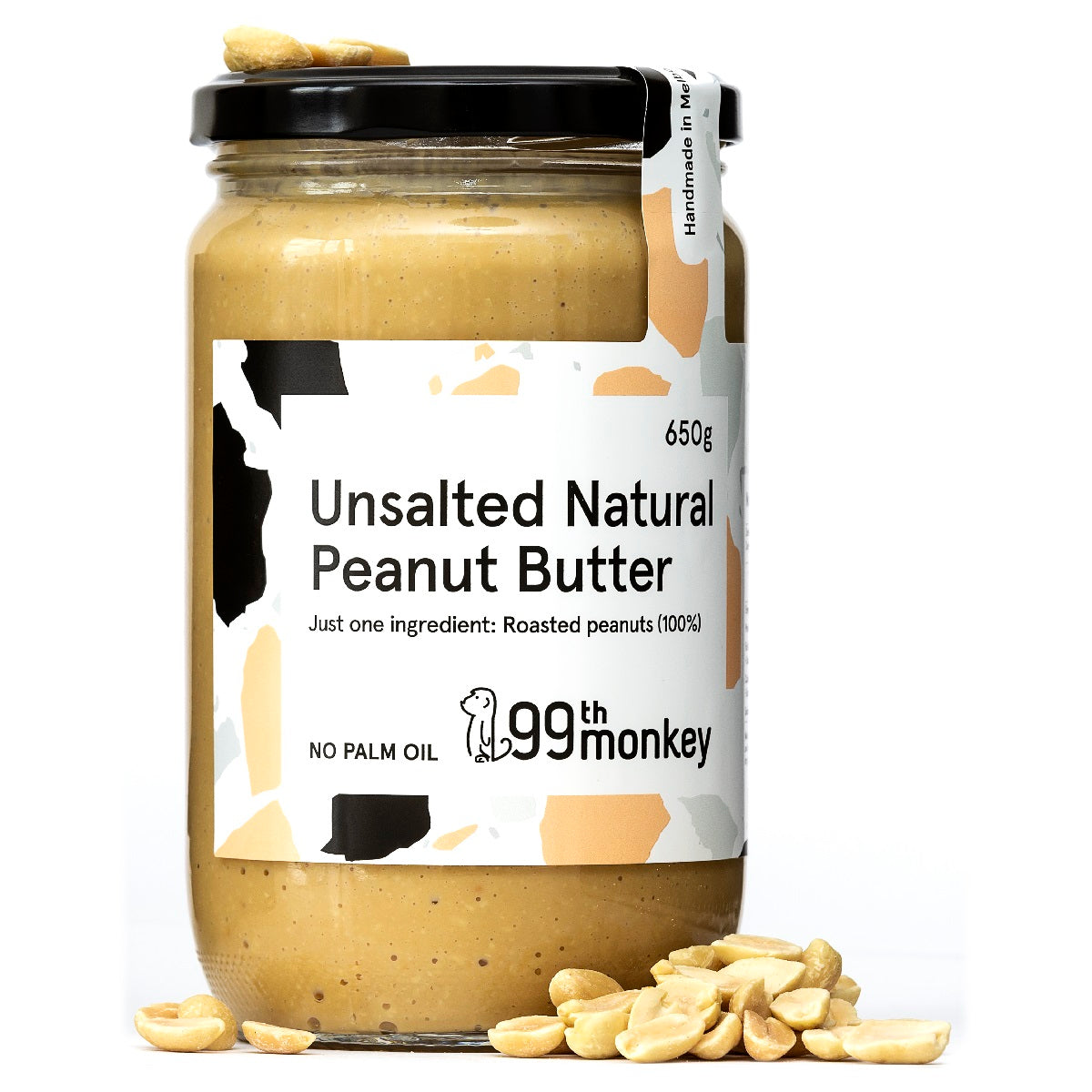 99th Monkey Unsalted Natural Peanut Butter