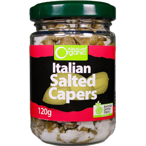 Absolute Organic Italian Salted Capers 120g