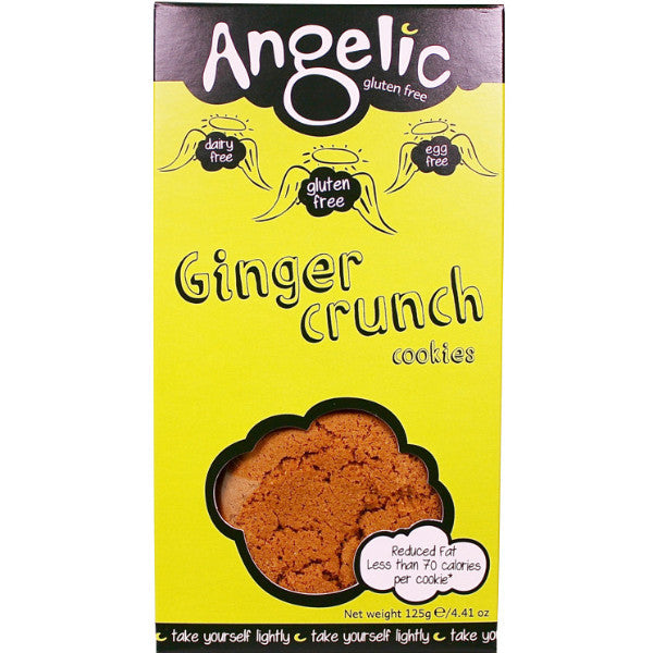 Angelic Gluten Free Ginger Crunch Cookies 125g