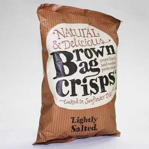 Brown Bag Crisps Lightly Salted (150g)