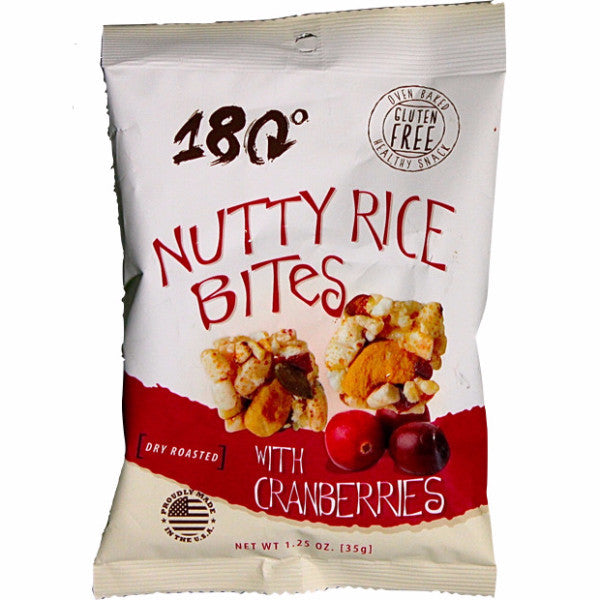 180 Nutty Rice Bites with Cranberries 35g