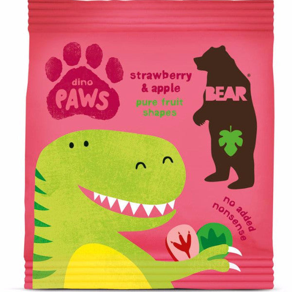 Bear Paws Dino - Strawberry & Apple (20g)