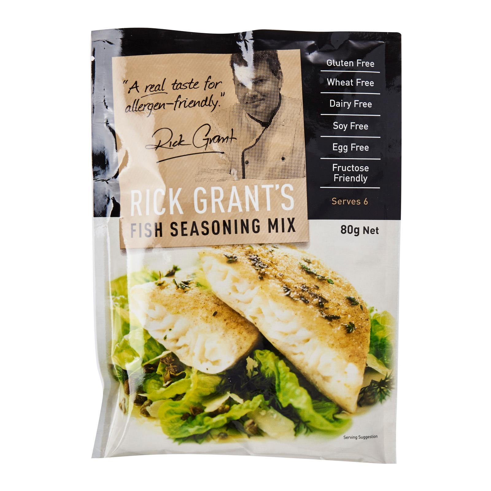 Rick Grant's Gluten Free Fish Seasoning Mix (80g)