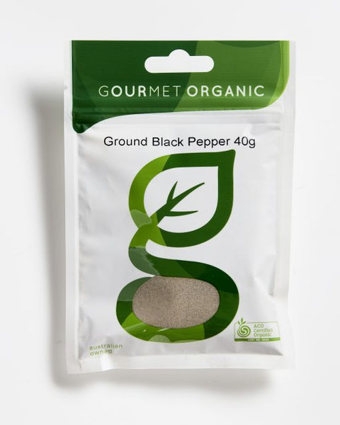 Gourmet Organic Pepper Black Ground (40g)