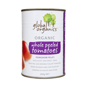 Global Organics Whole Peeled Tomato (400g)