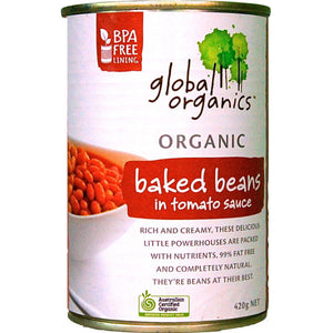 Global Organics Baked Beans in Tomato Sauce (420g)