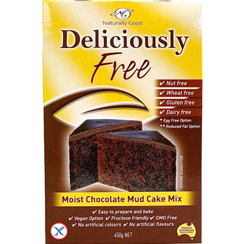 Deliciously Free Moist Chocolate Mud Cake Mix (450g)