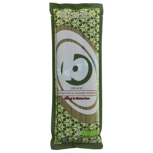 Organic Brown Rice & Wakame Noodles (250g)