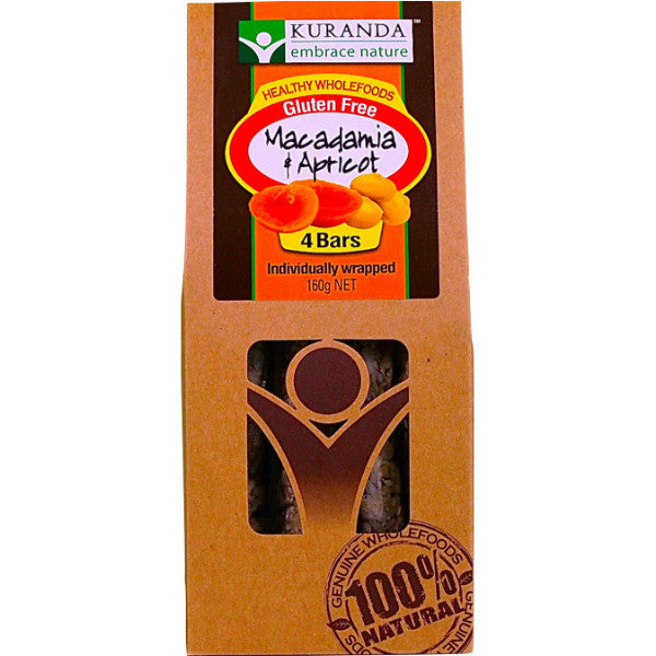 Bars - Macadamia and Apricot (Pack of 4) 160g