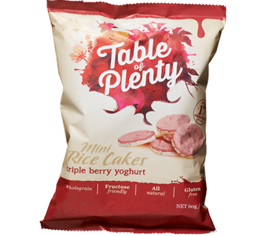 Triple Berry Yoghurt Mini Rice Cakes (60g)