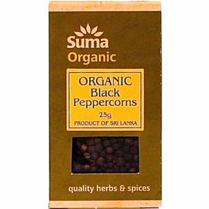 Black Peppercorns Organic (25g)