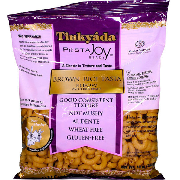 Tinkyada Pasta Brown Rice Elbow  454g