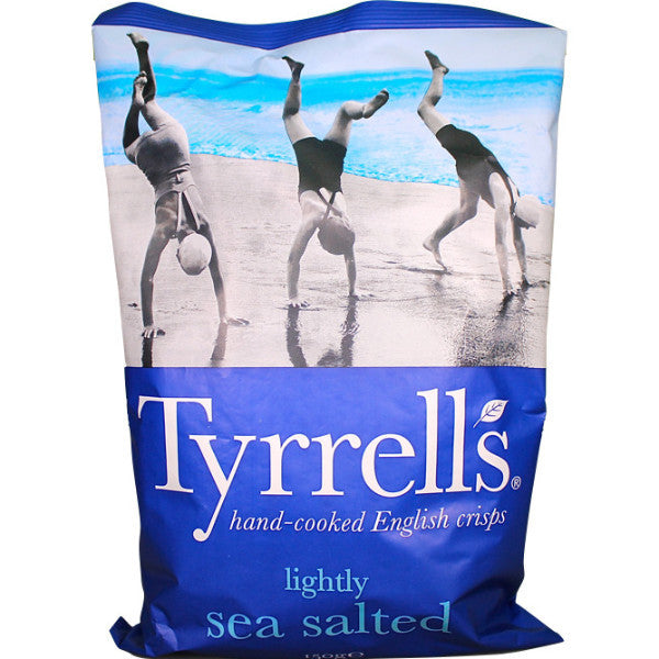 Tyrrells English Crisps - Lightly Sea Salted 150g
