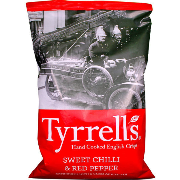 Tyrrells English Crisps - Sweet Chilli & Red Pepper 150g