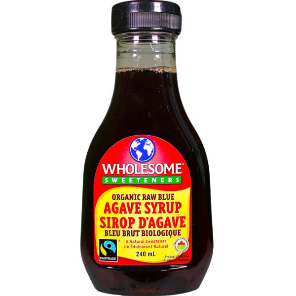 Wholesome Sweeteners Organic Raw Blue Agave Syrup 240ml