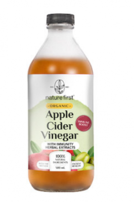 Nature First Apple Cider Vinegar w/ Immunity Herbal Extracts Organic (500ml)