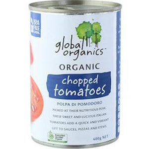 Global Organics Chopped Tomato (400g)