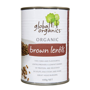 Global Organics Lentils Brown Organic (canned) (400g)