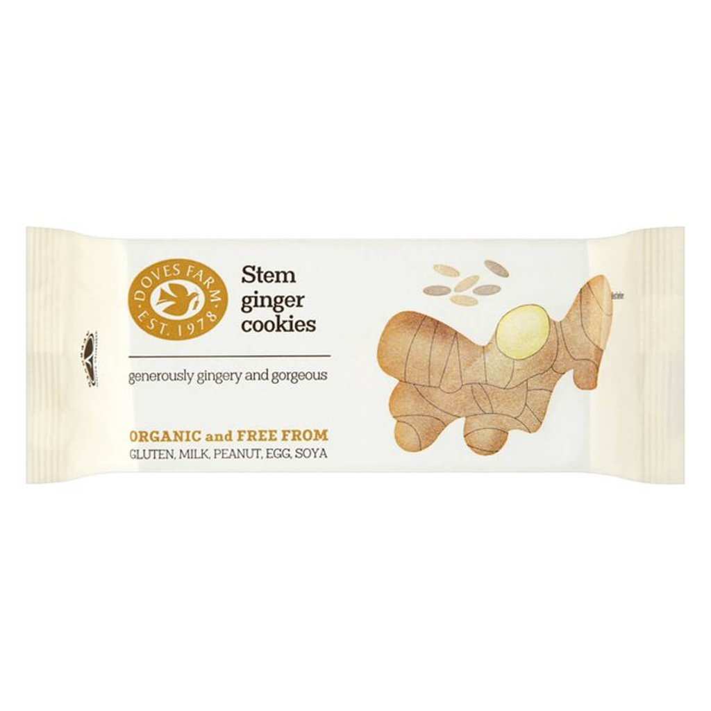 Organic Stem Ginger Cookies (150g)