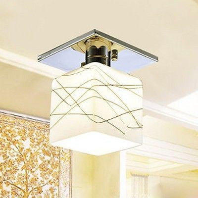 Water Cube Crystal Ceiling Light For Corridors Hallways Porches