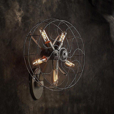 Nostalgia LOFT Industrial Fan Style Wall Lamp Retro Edison Series