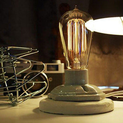 Industrial Table Lamp With Adjustable Brightness vintage Bulb