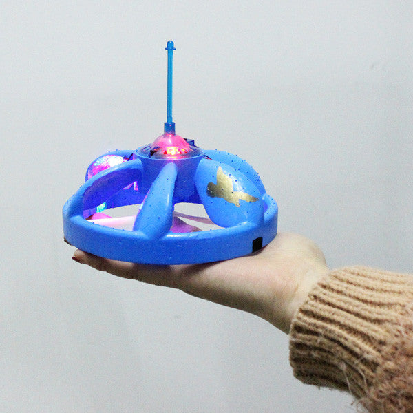 Flying Saucer UFO Hand Induced Hovering And Floating Flight With LED