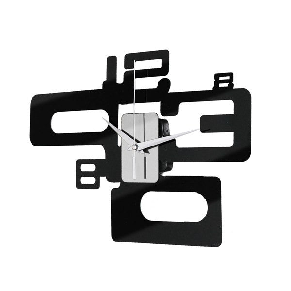 Modern Art Number Design Wall Clock Acrylic Mirror Surface Home Decor