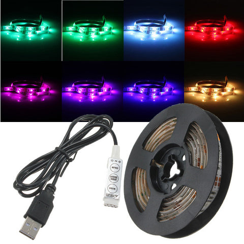 50cm/100cm/150cm/200cm LED 5050 Waterproof IP65 RGB USB LED Strip Light DC 5V