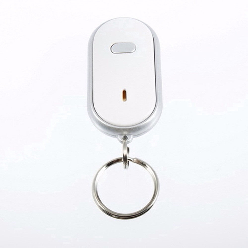 LED Light Torch Remote Sound Control Lost Key Finder Locator Keychain Keyring  With Whistle Claps