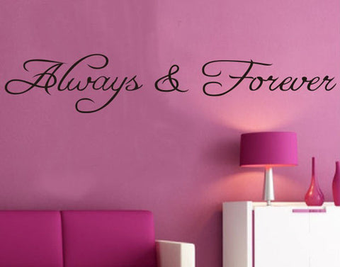 Free shipping: Alway Forever Wall Stickers Living Bedroom Decor Decals Mural Vinyl Removable House Decoration