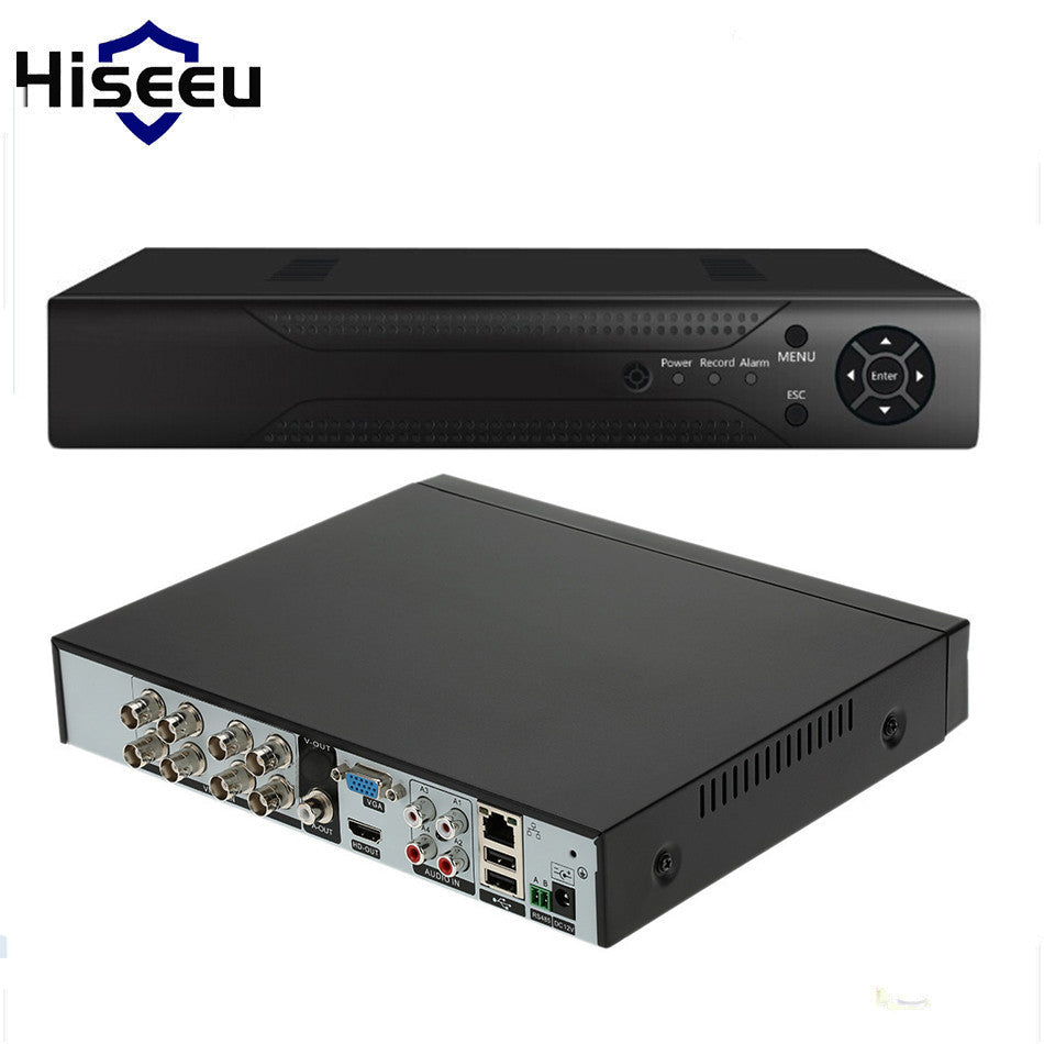 Hiseeu ONVIF 4CH 8CH stand alone DVR Full HD P2P Cloud H.264 VGA HDMI video recorder RS485 Audio FREE Shipping