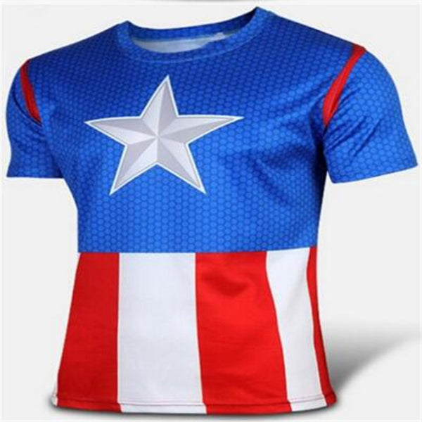 t-shirt Superman/Batman/spider man/captain America /Hulk/Iron Man / t shirt men fitness shirts men t shirts