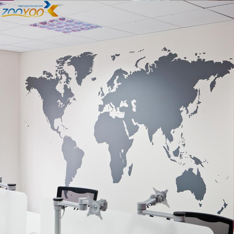 Map Of World Wall Stickers Home Decorations...