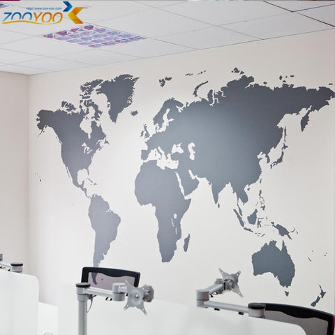 map of world wall stickers home decorations zooyoo8278 diy removable vinly wall decal study room living room wall decals