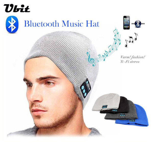 Ubit Men Women Outdoor Sport Bluetooth Stereo Magic Music Hat  Smart Electronics Wireless Bluetooth Earphone Hat for SmartPhone
