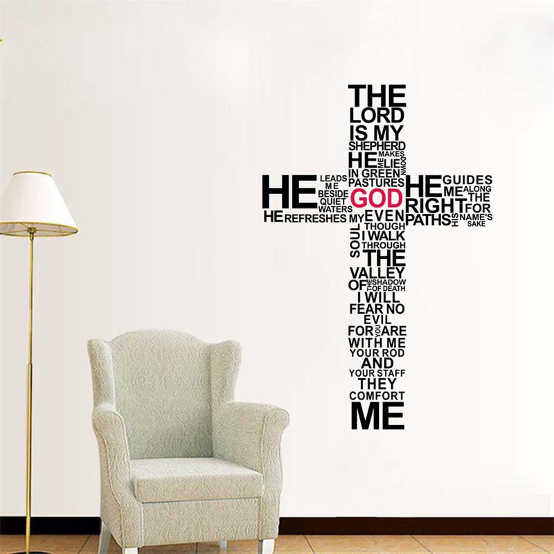 New Cross Christian Removable Wall Stickers...