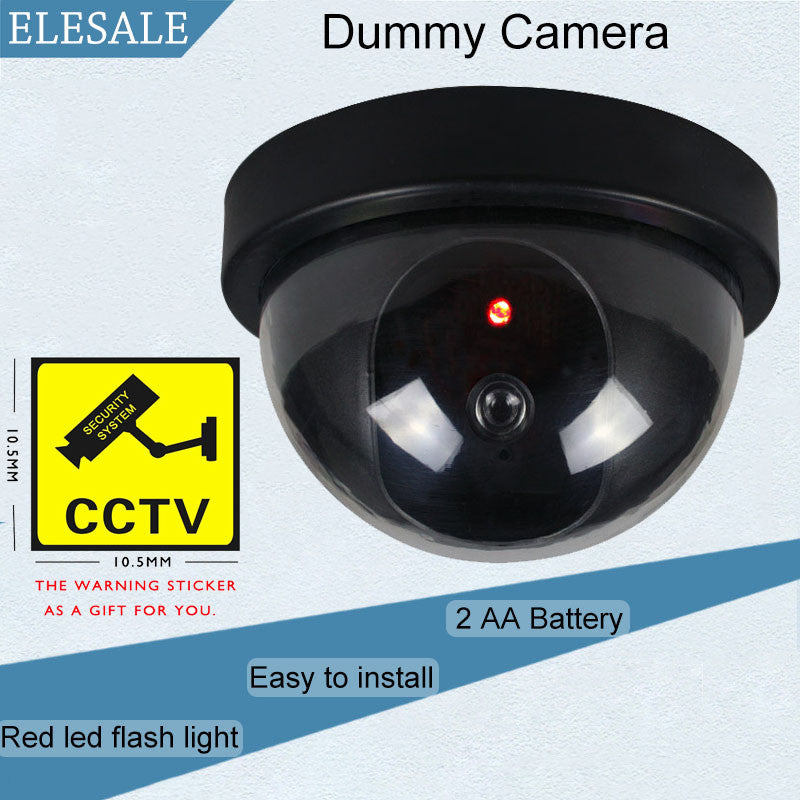 Black Plastic Housing Fake Camera Two AA Battery LED Dummy Security Camera Ir Led Dome CCTV Camera Surveillance Camera ELESALE
