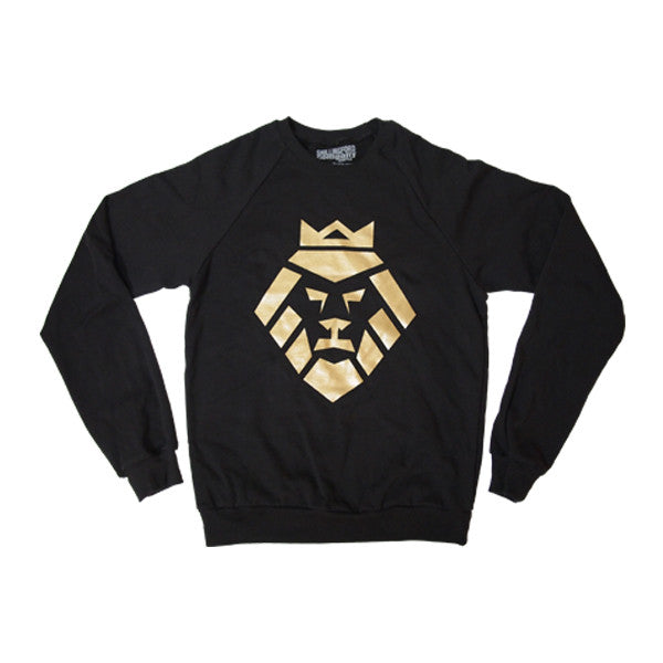 Gold Lion Sweatshirt in Black by Shillingford Co.
