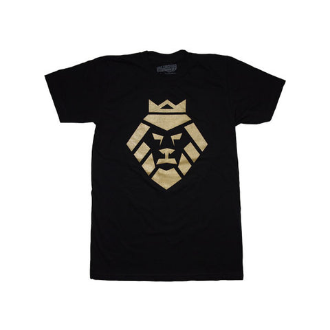 Gold Lion T-Shirt in Black by Shillingford Co.