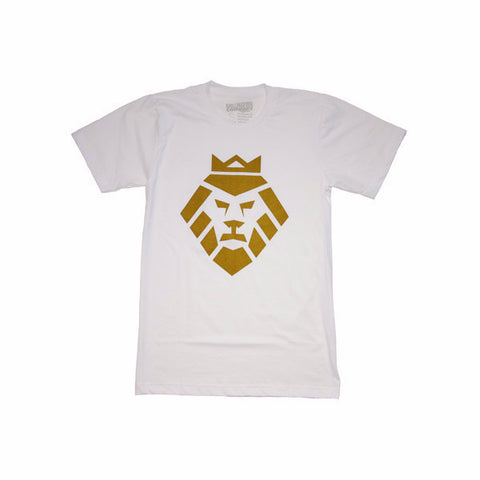 Gold Lion T-Shirt in White by Shillingford Co.