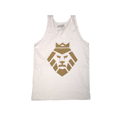 Gold Lion Tank Top in White by Shillingford Co.