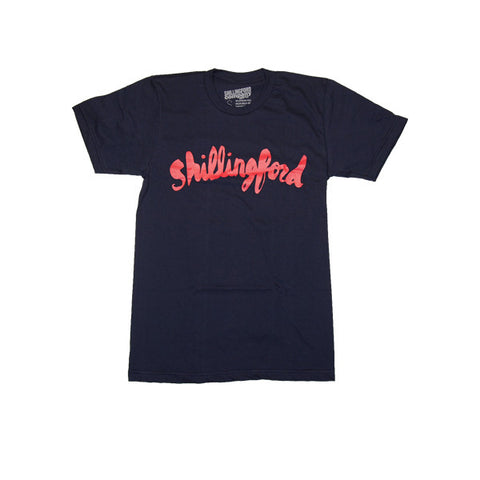 Red Shillingford Script T-Shirt in Navy by Shillingford Co.