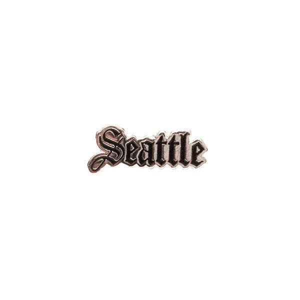 Seattle Enamel Pin in Silver and Black by Shillingford Co.