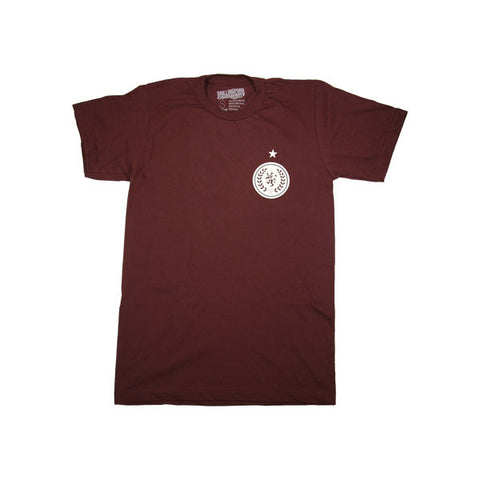 Shillingford Soccer T-Shirt in Maroon by Shillingford Co.