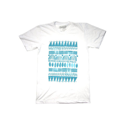 White Tribal T-Shirt by Shillingford Co.