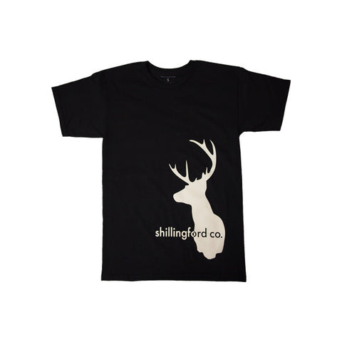 White Stag T-Shirt in Black by Shillingford Co.