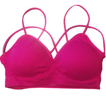 Front Strap Bra ~ Bright Berry