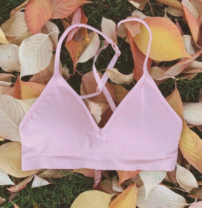 Convertible V Neck Bra ~ Tea Rose